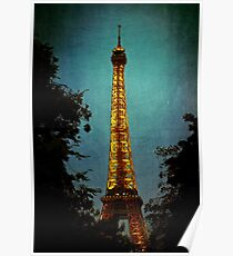 Tour Eiffel at Night Poster