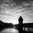 Lucerne Switzerland at sunrise by sumners