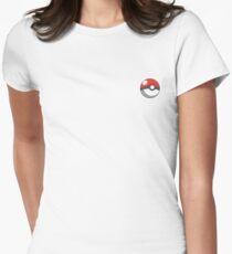 pokeball badge Womens Fitted T-Shirt