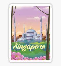 Singapore Mosque Travel poster Sticker