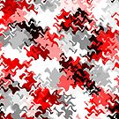 Red White Grey Black Abstract (1 of 6 please see notes) by Ra12