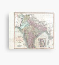 Vintage Map of India (1806) Metal Print