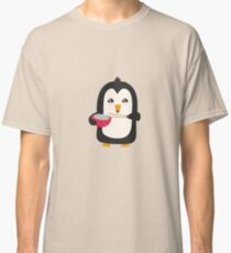 Penguin with rice   Classic T-Shirt