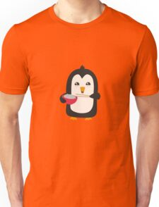 Penguin with rice   Unisex T-Shirt