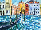 Venice - Original watercolour landscape by Francesca Whetnall by Cecca-Designs