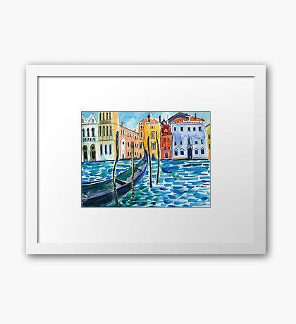 Venice - Original watercolour landscape by Francesca Whetnall Framed Print