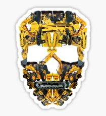 Skull Heavy Equipment Sticker