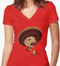 Monterrey Fire Women's Fitted V-Neck T-Shirt