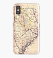Vintage Map of South Carolina (1818) iPhone Case