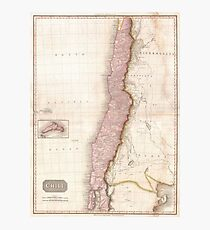 Vintage Map of Chile (1818) Photographic Print
