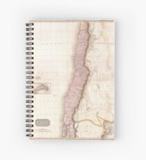Vintage Map of Chile (1818) Spiral Notebook