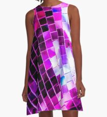 Purple Disco Ball A-Line Dress