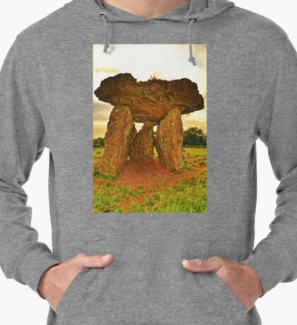 Ancient Burial Chamber in Wales (UK) Lightweight Hoodie