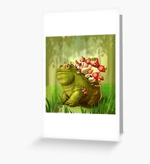 Toadception Greeting Card