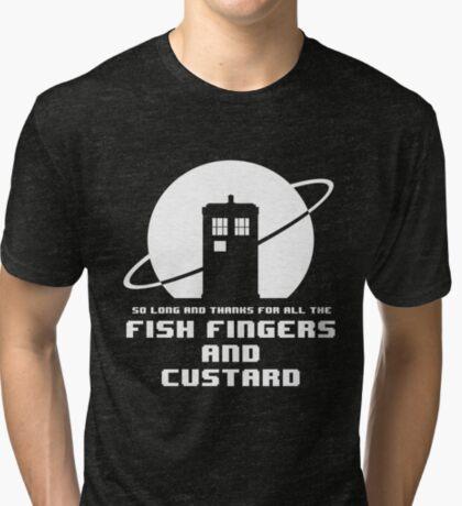 Fish Fingers and Custard Tri-blend T-Shirt