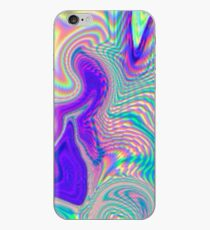 Lila holographische Muster iPhone-Hülle & Cover