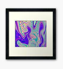 Purple Holographic Pattern Framed Print