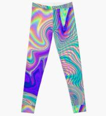 Purple Holographic Pattern Leggings