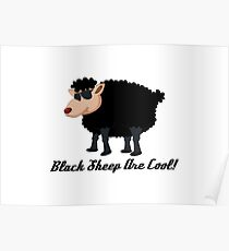 Chinese New Year Black Sheep Are Cool Poster