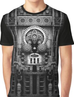 Infernal Steampunk Vintage Machine #3 Monochrome Graphic T-Shirt