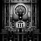Infernal Steampunk Vintage Machine #3 Monochrome by Steve Crompton