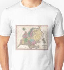 Vintage Map of Europe (1827) T-Shirt
