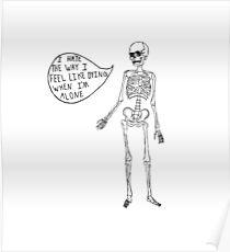 Joyce Manor Skeleton Design Poster