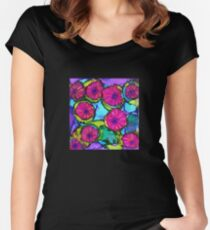 Basket of Petunias Women's Fitted Scoop T-Shirt