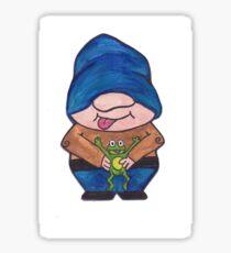 Gnome frog Sticker