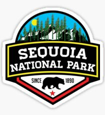 SEQUOIA NATIONAL PARK CALIFORNIA REDWOOD MOUNTAINS HIKE HIKING CAMP CAMPING Sticker