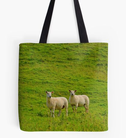 2 welsh Mountain Sheep at Dryslwyn Castle, Wales Tote Bag