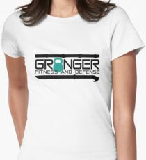 Granger Fitness and Defense Teal Full logo T-Shirt