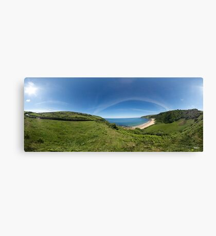 Kinnagoe Bay Panorama Canvas Print