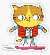 Meowrty CatFly Sticker