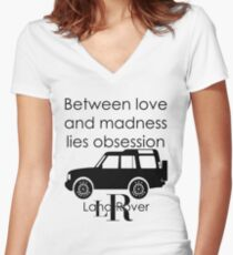 Calvin Klein & Land Rover (Parody) Women's Fitted V-Neck T-Shirt