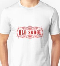 Old Skool Pinstripe Design in red Slim Fit T-Shirt