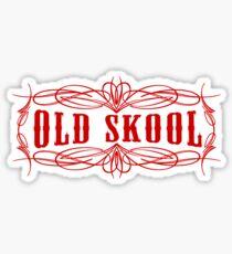 Old Skool Pinstripe Design in red Sticker