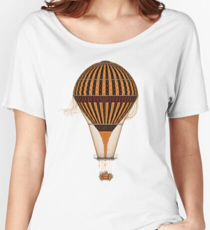 Elegant Steampunk Vintage Hot Air Balloon Steampunk T-Shirts Relaxed Fit T-Shirt
