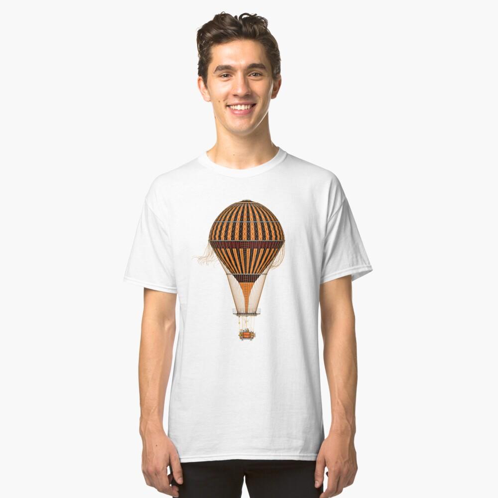 Elegant Steampunk Vintage Hot Air Balloon Steampunk T-Shirts Classic T-Shirt