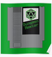 Dungeon Master NES Cartridge Mash Up Poster