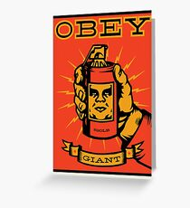 Obey Giant Greeting Card
