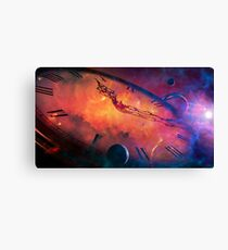 Cosmic Clock Canvas Print