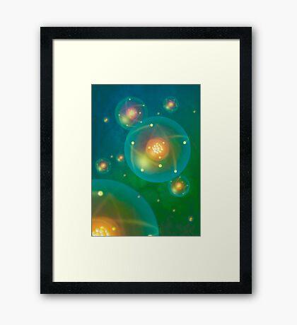 Atoms Framed Print