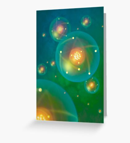 Atoms Greeting Card