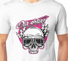 Old Skool Skull Design in pink by Uncle Henrys Unisex T-Shirt