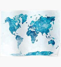 Colorful World Map Posters Redbubble - Colorful world map