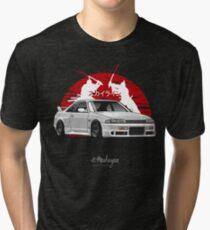 Nissan Skyline GTR R33 (white) Tri-blend T-Shirt