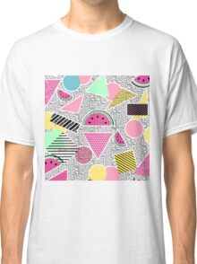 Modern geometric pattern Memphis patterns inspired Classic T-Shirt