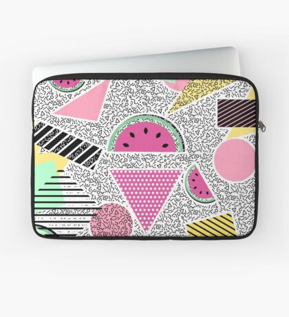 Modern geometric pattern Memphis patterns inspired Housse de laptop