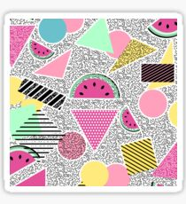Modern geometric pattern Memphis patterns inspired Sticker